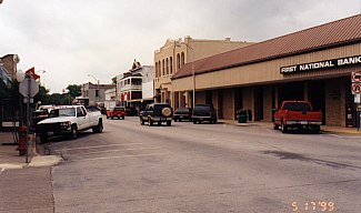 Downtown Bastrop - Westside of 1000 block of Main Street facing South.