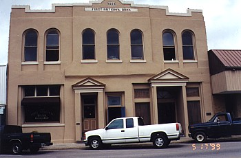 Downtown Bastrop - The old First National Bank Building on Main Street (1889).
