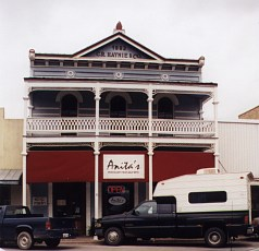Downtown Bastrop - The C. R. Haynie & Co. Building on Main Street (1883).