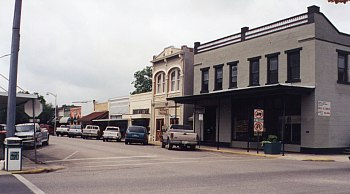 Downtown Bastrop - Westside of 900 block of Main Street facing South.